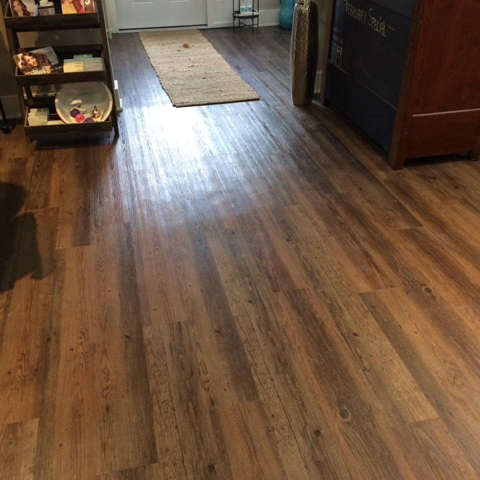 Salon floor lvt hq discount flooring for Cheap carpet flooring